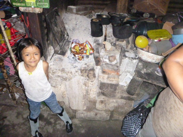 Jeferson's sister in his kitchen at home